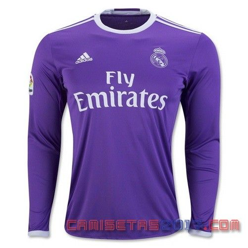 Camiseta manga larga Real Madrid 2016 2017 segunda
