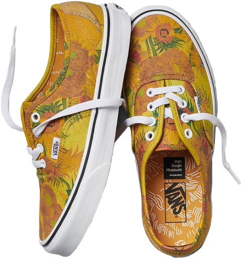Vans shoes yellow art Vincent Van Gogh polyvore moodboard