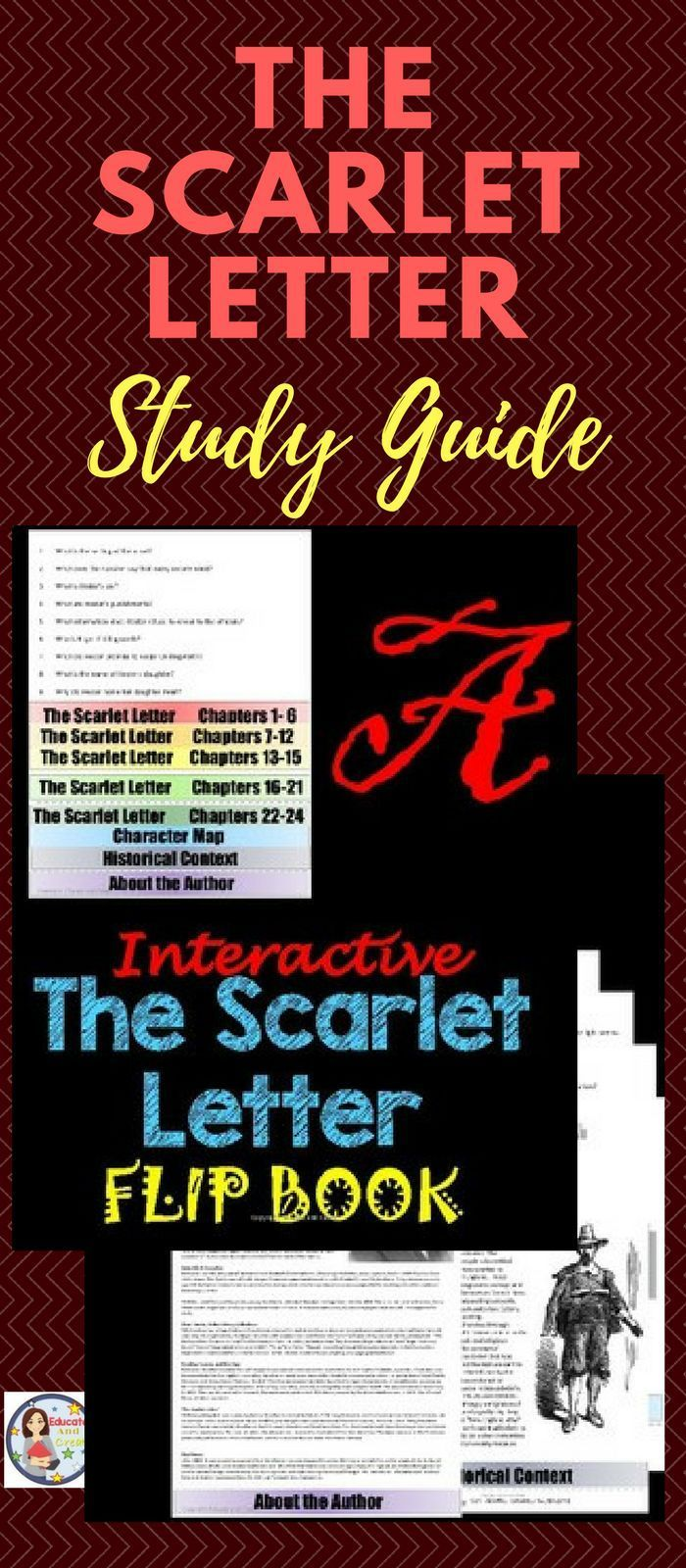 The Scarlet Letter Study Guide Flip book Lettering, The