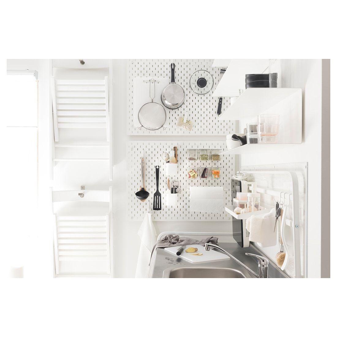Skadis Container With Lid White Ikea In 2020 Ikea Skadis Halte Durch Wandhalter