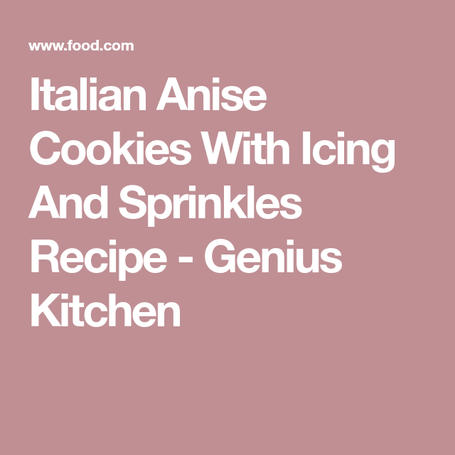 Italian Anise Cookies With Icing and Sprinkles | Rezept | Vikkor\'s ...