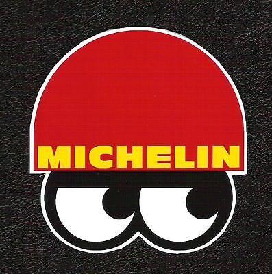 Michelin Bibendum Bib Eyes Under Helmet Sticker Vintage Sports Car Racing Decal Decals Stickers Automobi Vintage Motocross Sticker Design Vintage Racing