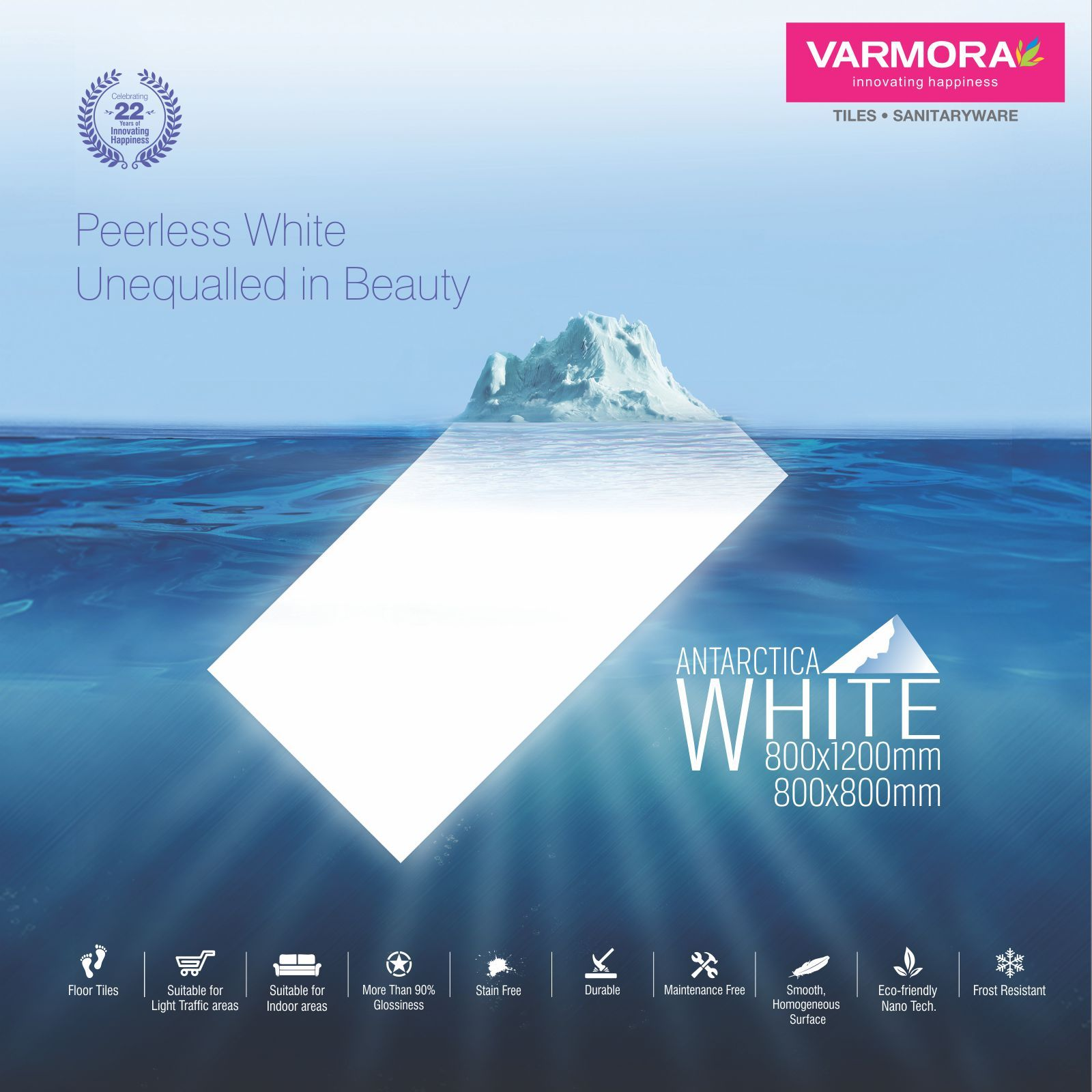 Varmora Granito Pvt Ltd introduced floor tiles which is Peerless ...