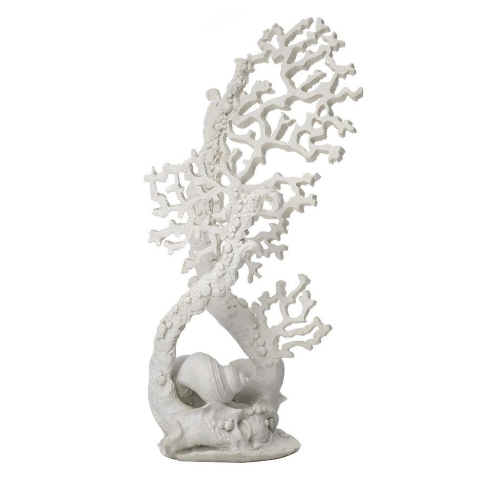 biOrb Fan Coral Ornament Aquarium Sculptures - White - L