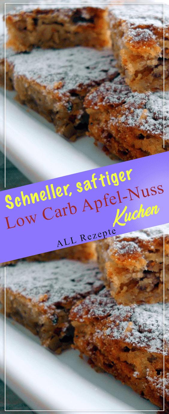 Photo of Schneller, saftiger Low Carb Apfel-Nuss-Kuchen