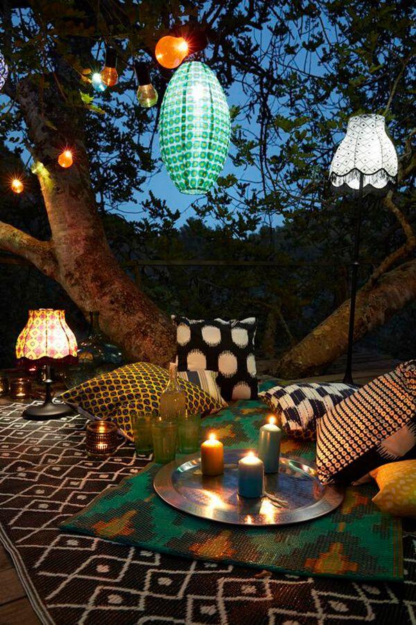 33 fabulous outdoor lighting ideas to liven up your outdoor living pairethnicfabricswithsoftlanternlighting aloadofball Choice Image