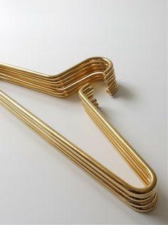 brass coat hangers.