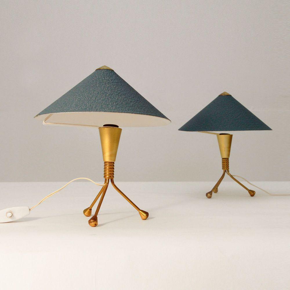 Coppia di lampade da tavolo anni 50,abatjours,stile arteluce ...
