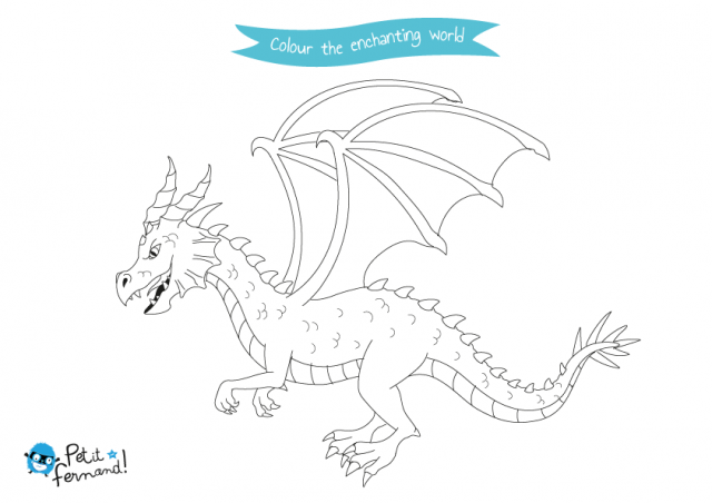 Elves and Dragons Colouring Pages | Dragon coloring page, Drawing ...