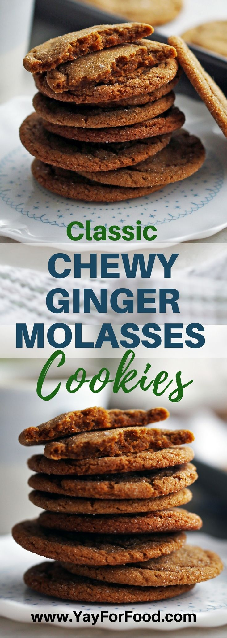 Check out these delicious sweet and spiced gingersnap (ginger molasses) cookies! Makes 32 tasty classic cookies in under 30 minutes! Desserts | #Cookies | Holiday recipes | Christmas Recipes | Sweets | Easy Recipes