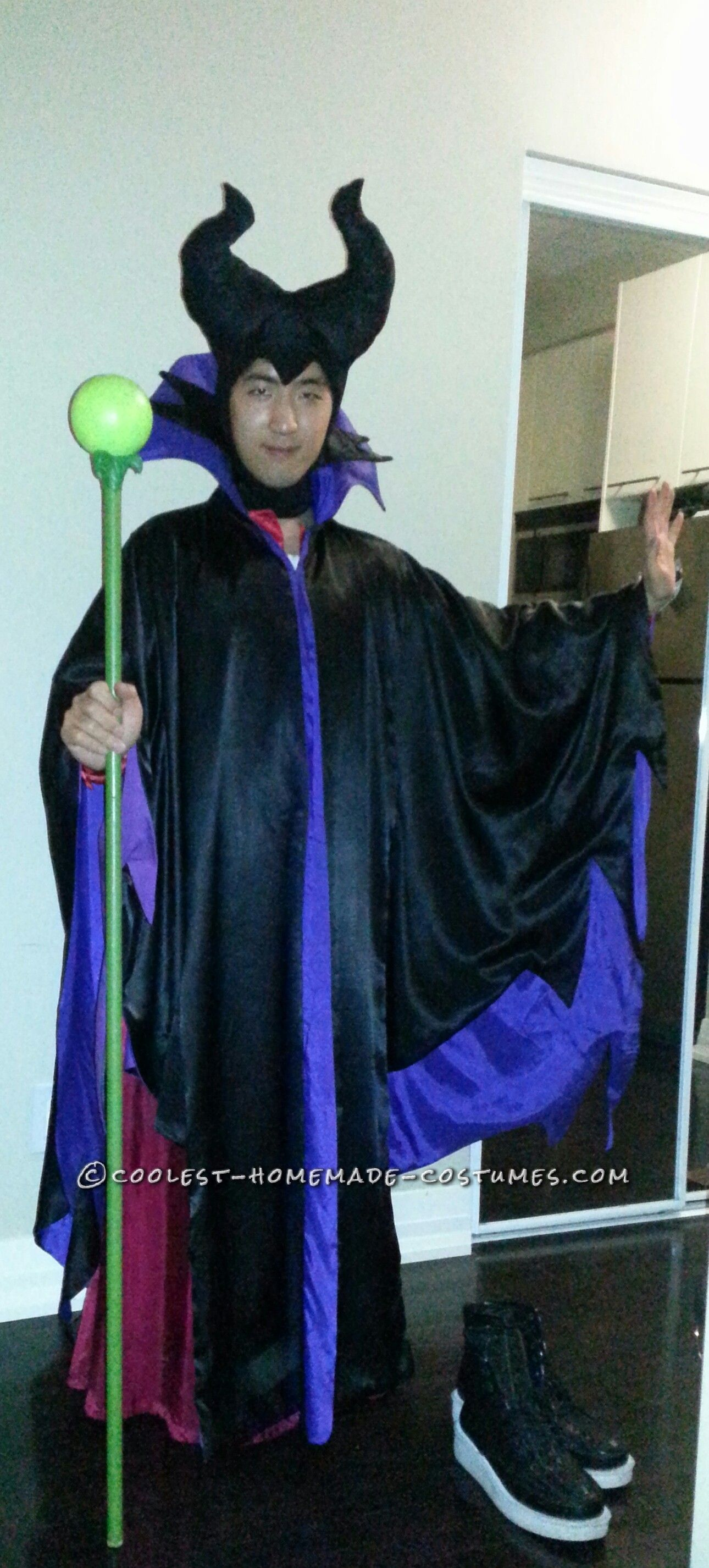 cool diy maleficent costume for a man | coolest homemade costumes