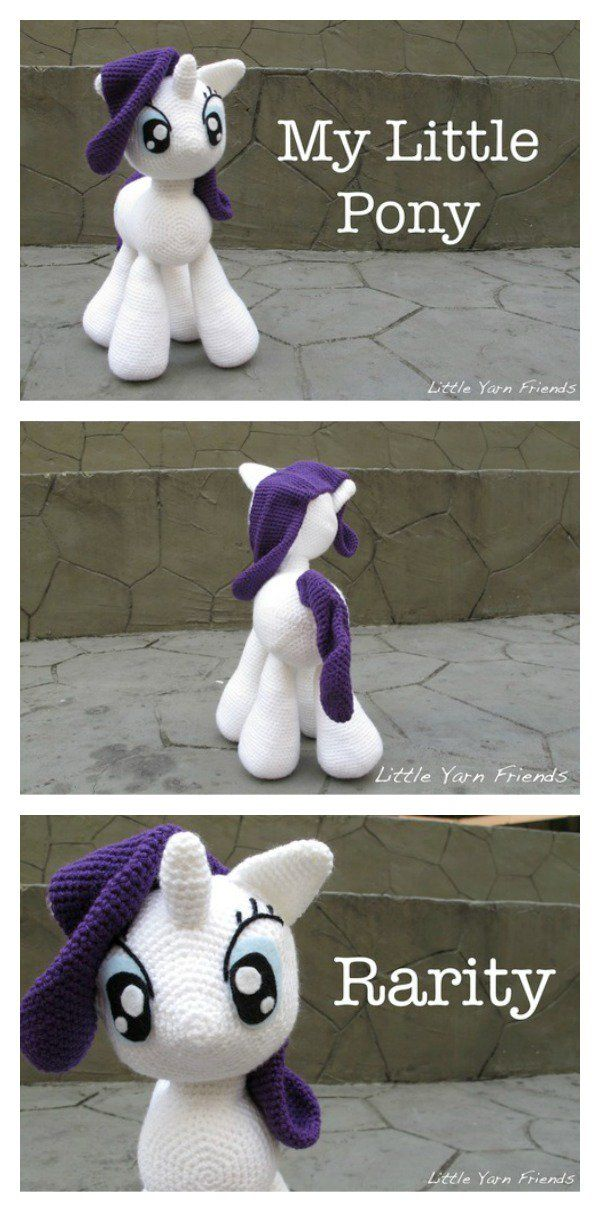 Awesome My Little Pony Free Crochet Patterns | Telar arbol, Patrones ...