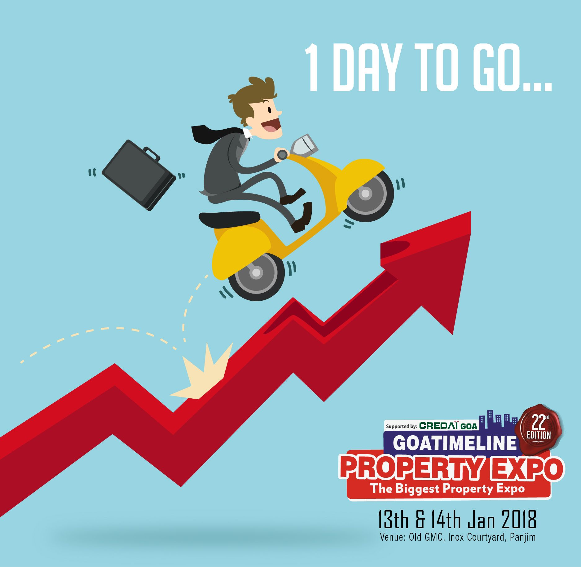 1 Day To Go Welcome To Goa Property Expo 2018 Meet The Exhibitors Who Are Committed To Trust Quality And Delivery Join Us Now Expo Property Goa