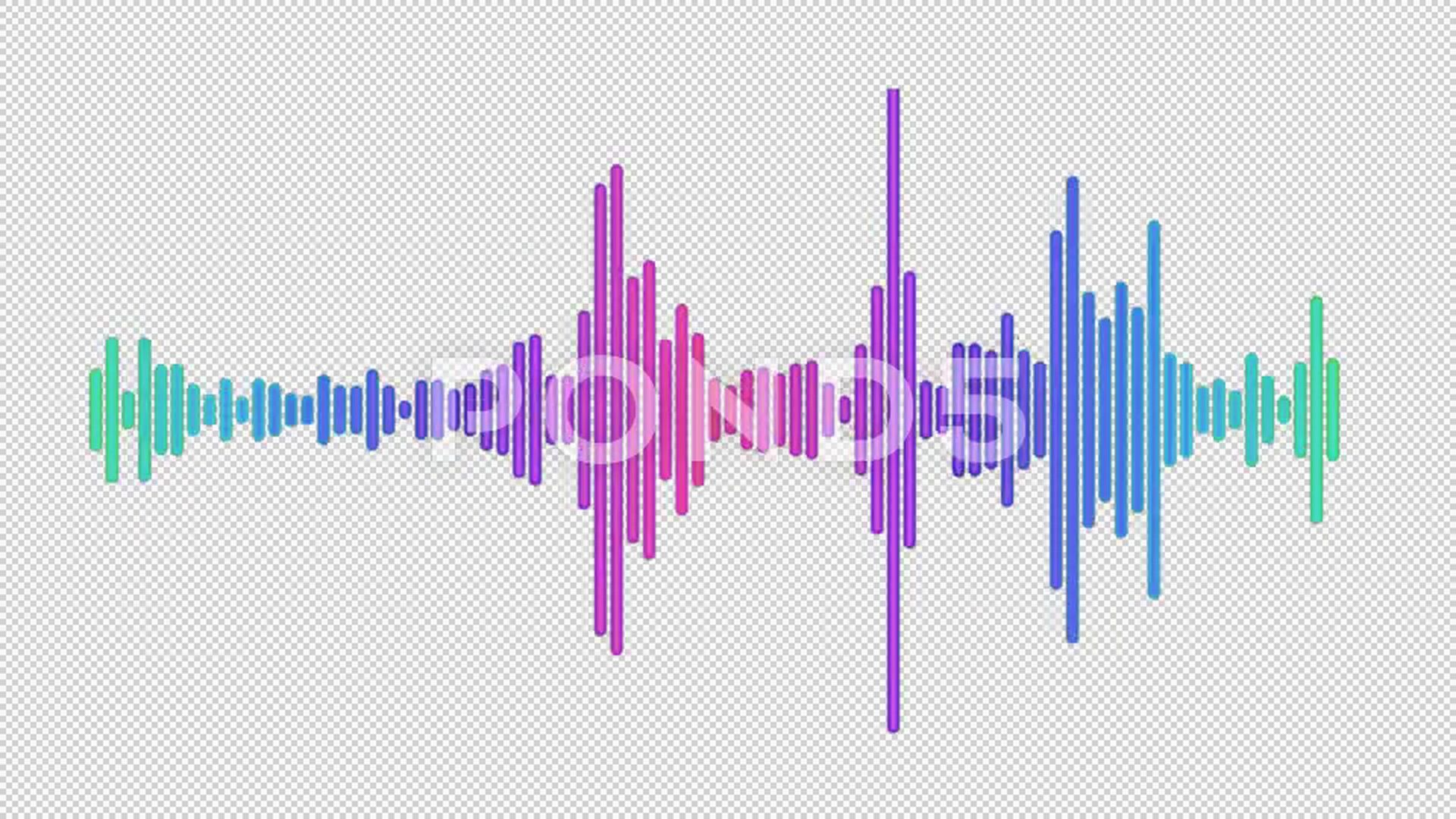 Audio Spectrum Line Waveform Animation On Alpha Channel Background Stock Footage Waveform Animation Line Audio Audio Alpha Channel Animation