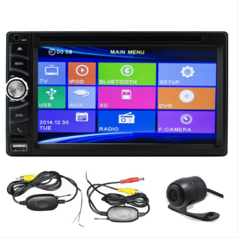 6 5 Inch Double Din Car Stereo With Hd Car Dvd Player In Dash