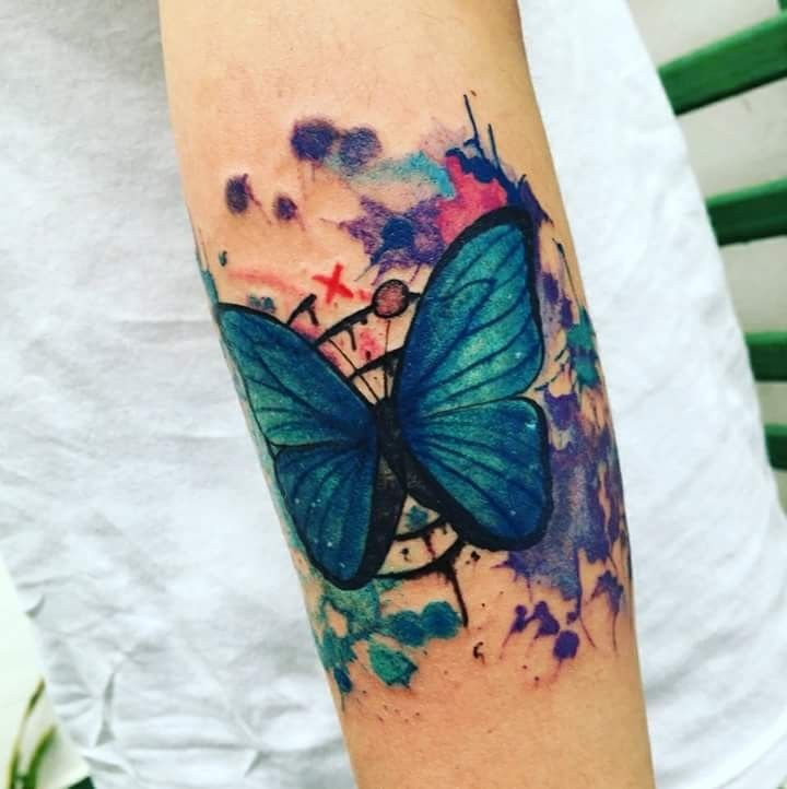 Tattoo Blue Butterfly Life Is Strange Rewind Butterfly