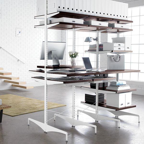 Walnut White Computer Desk
