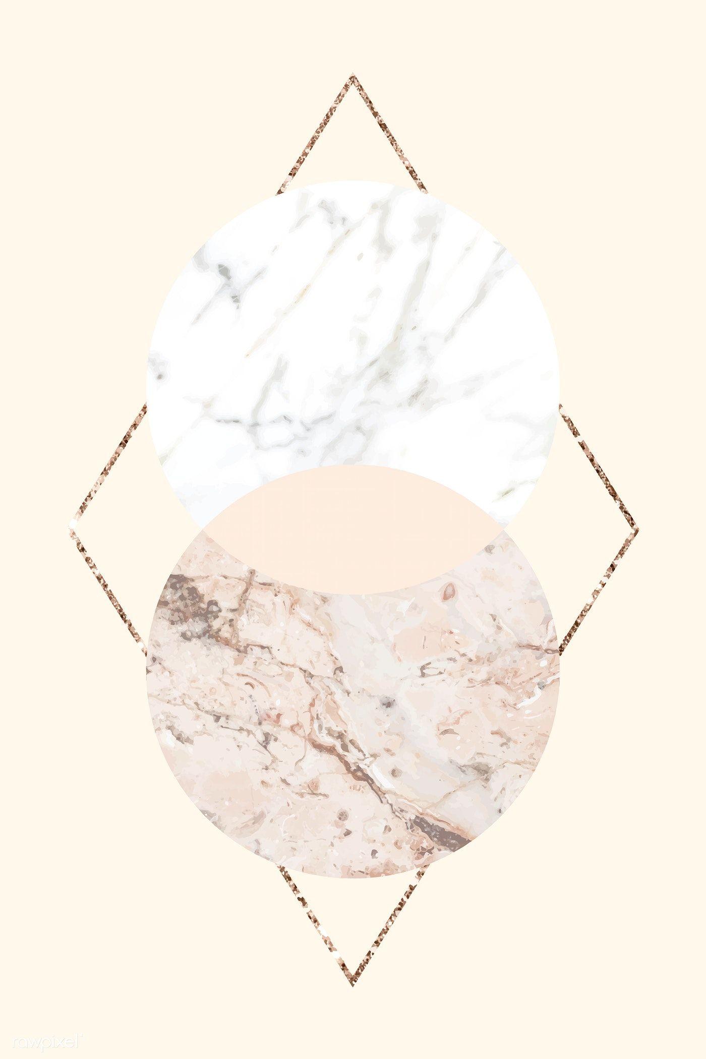 Download Premium Vector Of Round Marble Textured Frame On A Shimmering Marble Texture Texture Marble Art