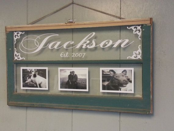 Personalized Picture Frame With Family Name Quote Family: Vintage Window Two Pane Family Name Personalized Picture