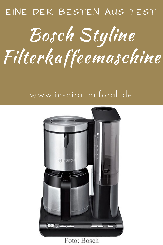 Bosch Styline Filterkaffeemaschine Tka8653 Filterkaffeemaschine Kaffeemaschine Und Haushalt