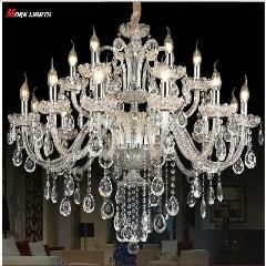 [ $65 OFF ] Luxury Crystal Chandelier For Living Room Lustre Cristal Modern Chandeliers Light Fixture Wedding Decoration Large Chandelier