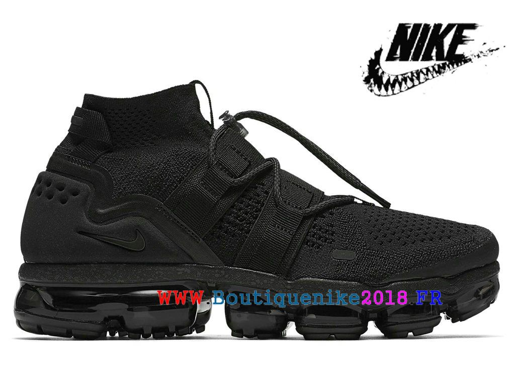 more photos 78b6e 6e116 Nouveau Chaussures Pas Cher Prix Asphalt Homme Nike-Air-VaporMax-Utility-Triple-Black  AH6834-001-Nike Boutique de Chaussure Baskets Site Officiel ...