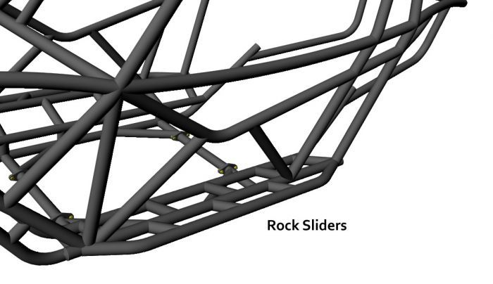 Rock Bouncer Chassis For Rockwells and Bypass Shocks