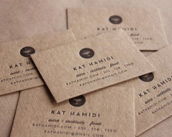 Recycled Letterpress Business Cards // made to order - set of 200 ...