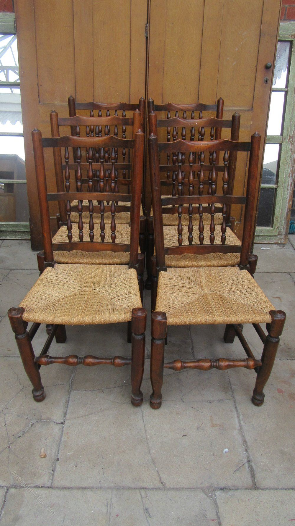 Set Of Six Spindle Back Country Dining Chairs Antiques Atlas Spindle Dining Chair Country Dining Dining Chairs