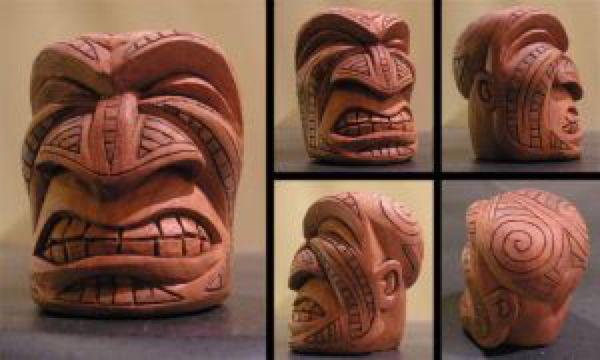 Maori Tiki Face 2 by tflounder on @DeviantArt