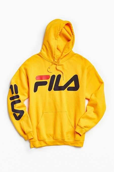 FILA Script Hoodie Sweatshirt   Sweatshirts, Fila outfit
