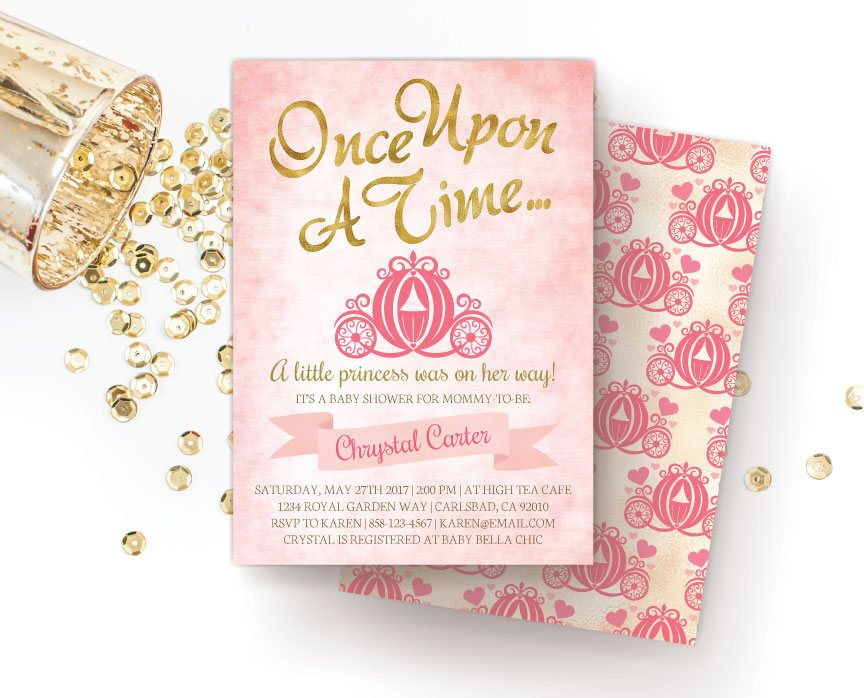 Royal Princess Baby Shower Invitation, Once Upon A Time / Storybook ...
