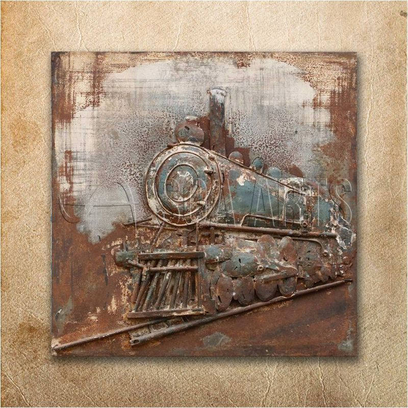 Vintage Stream Train Metal 3d Wall Art View Metal Wall Art Soa Arts Product Details From Shenzhen Soa Arts Co Ltd On Alibaba Com 3d Wall Art Train Wall Art 3d Wall