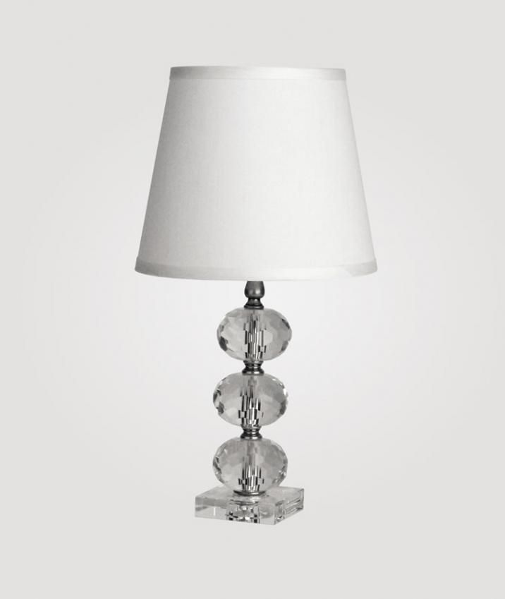 Small Vienna Clear Crystal Lamp By Maura Daniel White Countess Shade Crystal Lamp Lamp Crystal Table Lamps