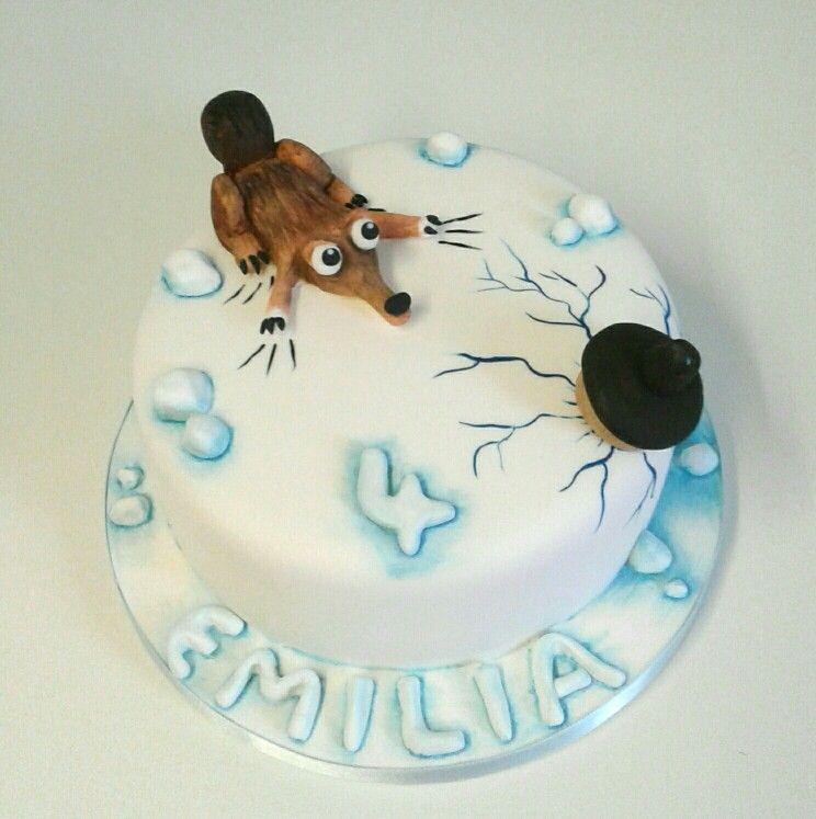 ice age themed 4th birthday cake  farm cake 4th