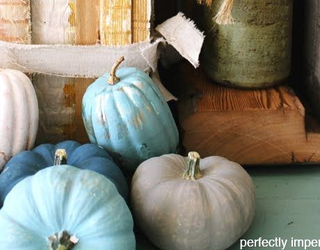 Beautiful Ocean Blue Pumpkins