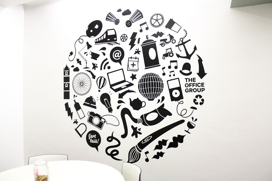 we were asked by the office group bristol to create a vinyl wall decal for - Wall Vinyl Designs