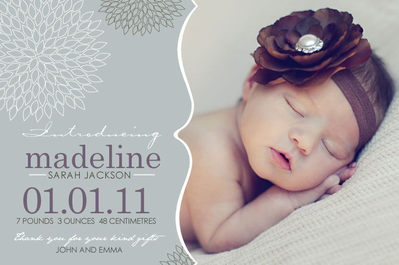 17 Best images about natalicios – Birth Card Announcement