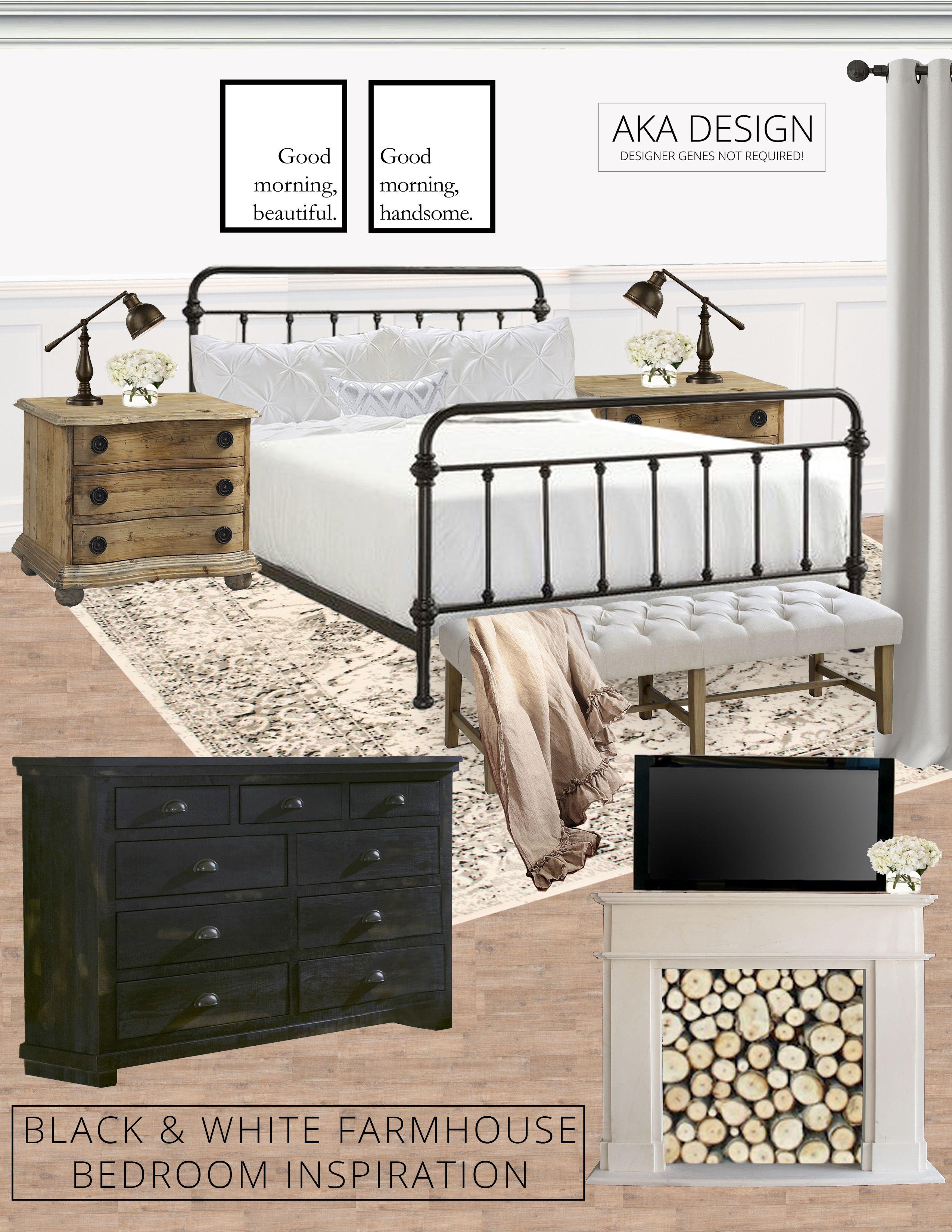 38+ Black and white farmhouse bedroom ideas info