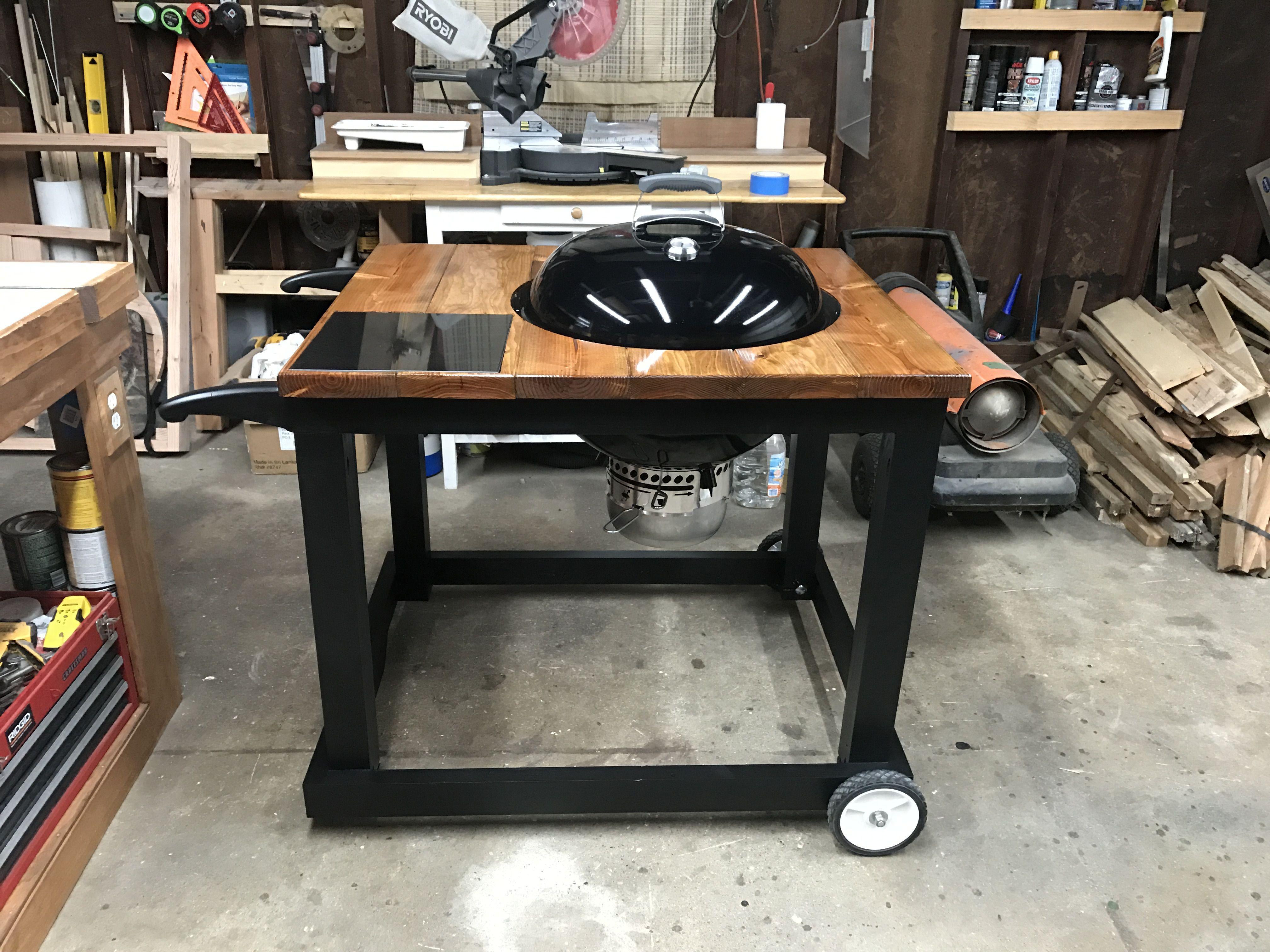 DIY Weber grill cart Weber grill cart Pinterest