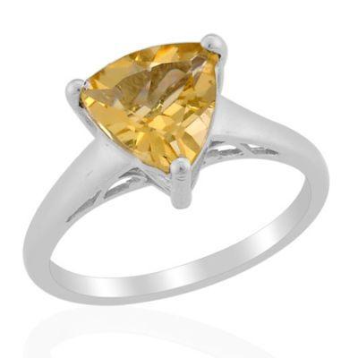 Look what I found on @eBay! http://r.ebay.com/Ft0ViE   2.25ctw Genuine Citrine Solitare Ring Trillion shape size 8