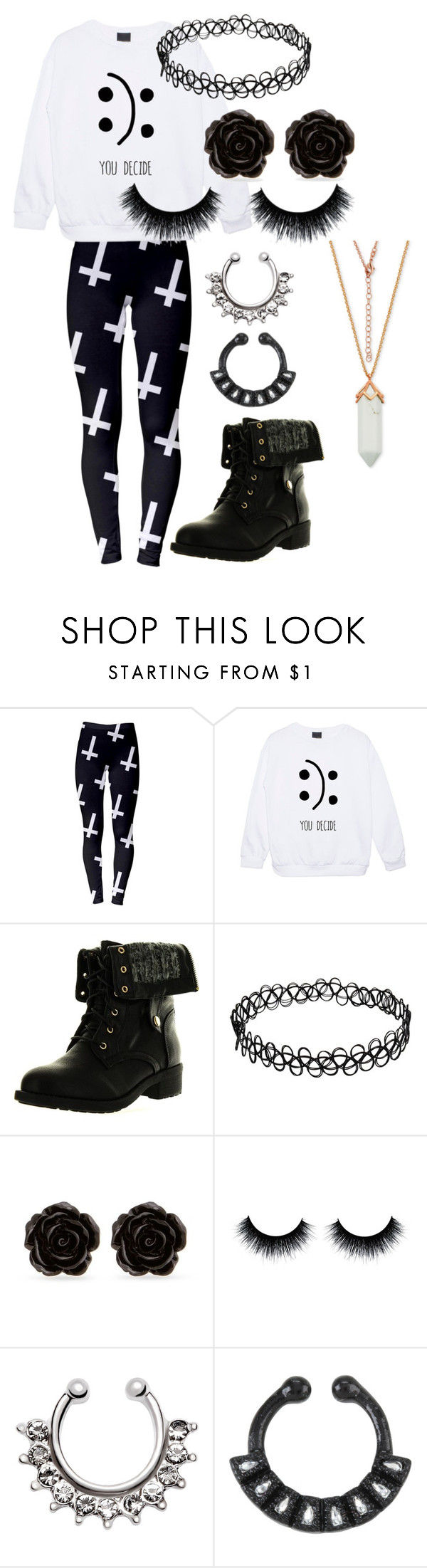 """Black and White"" by toxicshadows on Polyvore featuring Refresh and Erica Lyons"