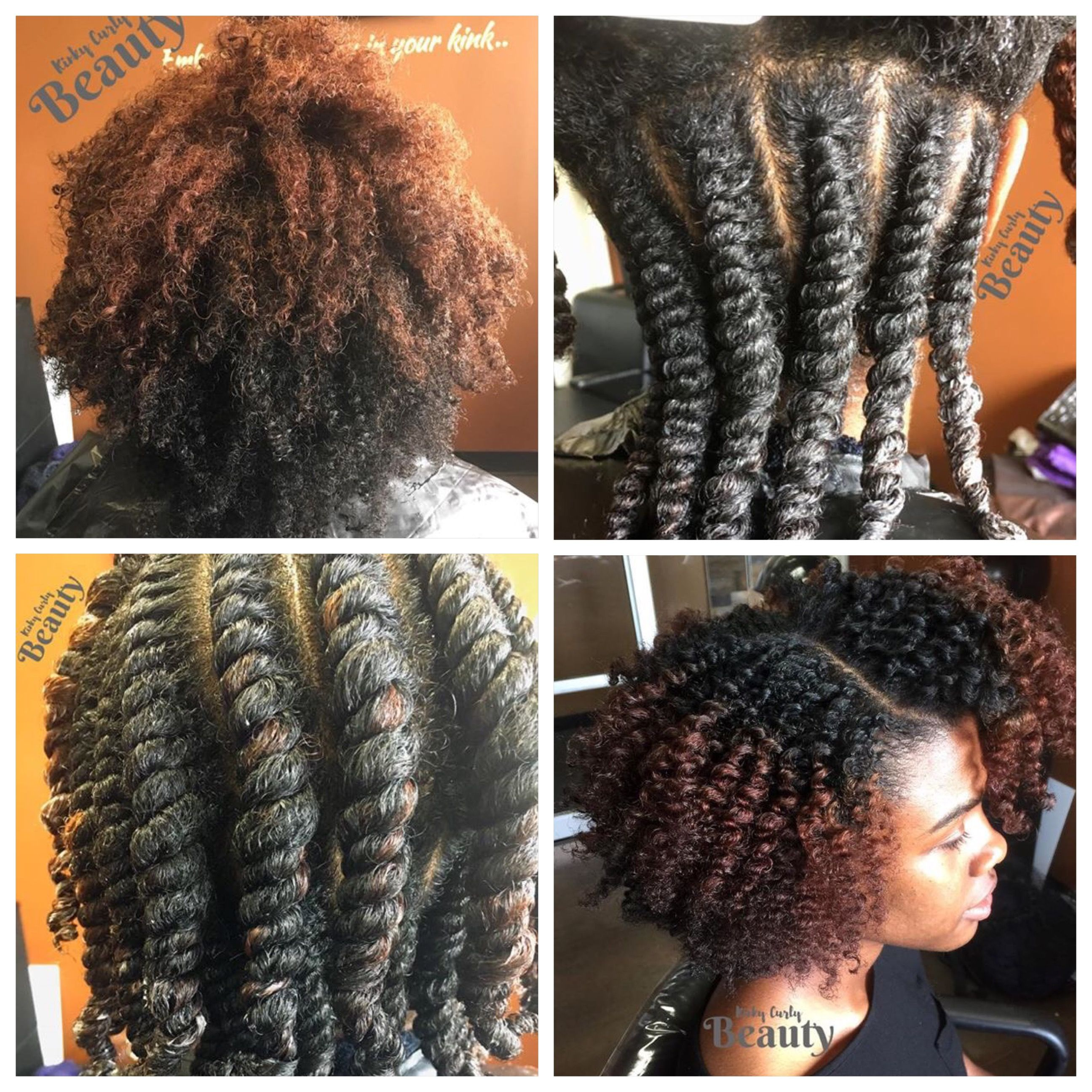 Cutest two strand twist out pretty natural curly