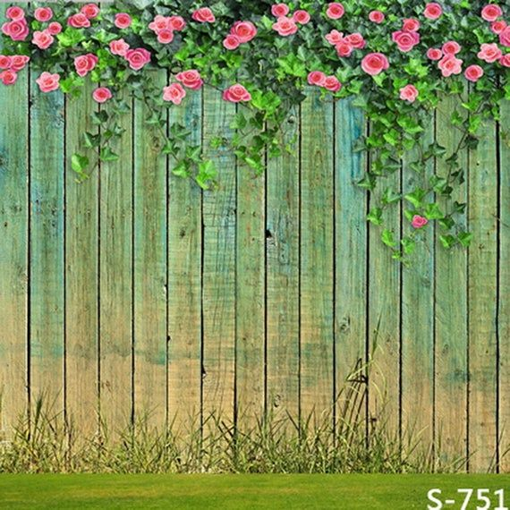 Wood Fence Wall Backdrop Computer Printed Photography | Etsy