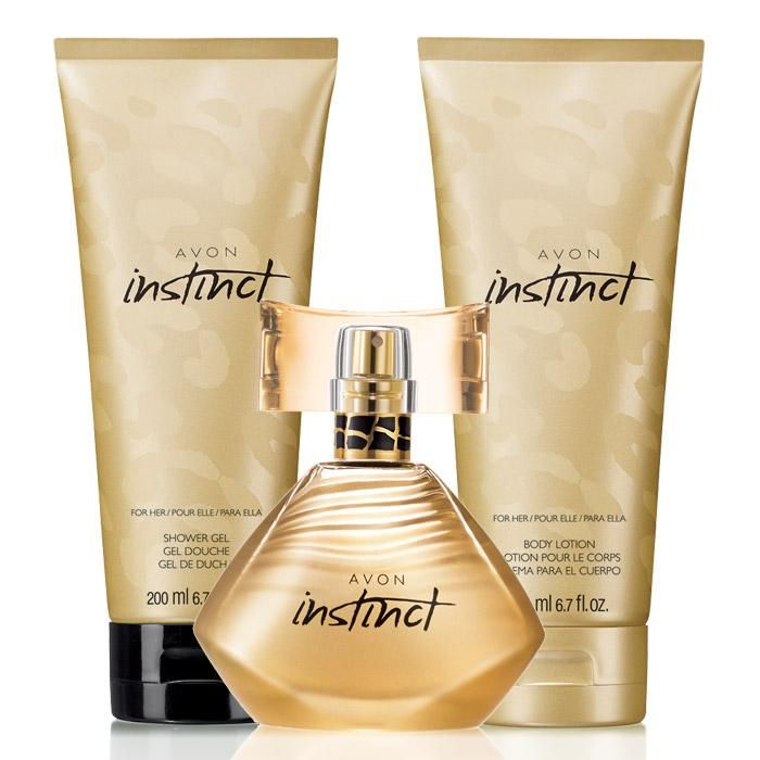 Avon Instinct for Her 3-Piece Sensual #MeganFox Fragrance Set Unleash your sensual side with an exotic fragrance temptation and feel sexy with the scents of sparkling greens, exotic camellia and a touch of sensual sandalwood. Set includes:Eau de Parfum Spary1.7 fl. oz. A $25 value.Shower Gel6.7 fl. oz. a $10 value.Body Lotion6.7 fl. oz. A $10 value. prod #749-300  Only $22 the set. http://youravon.com/irmae