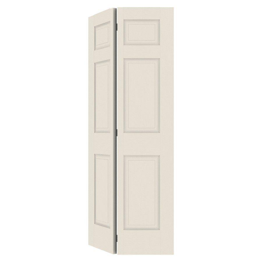 Reliabilt 30 In X 79 In 6 Panel Hollow Core Molded Composite Interior Bifold Closet Door Bifold Closet Doors Closet Doors Interior Closet Doors