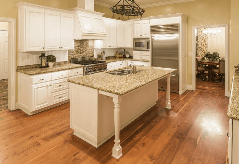 Wood floor in kitchen pros and cons Laminate kitchen