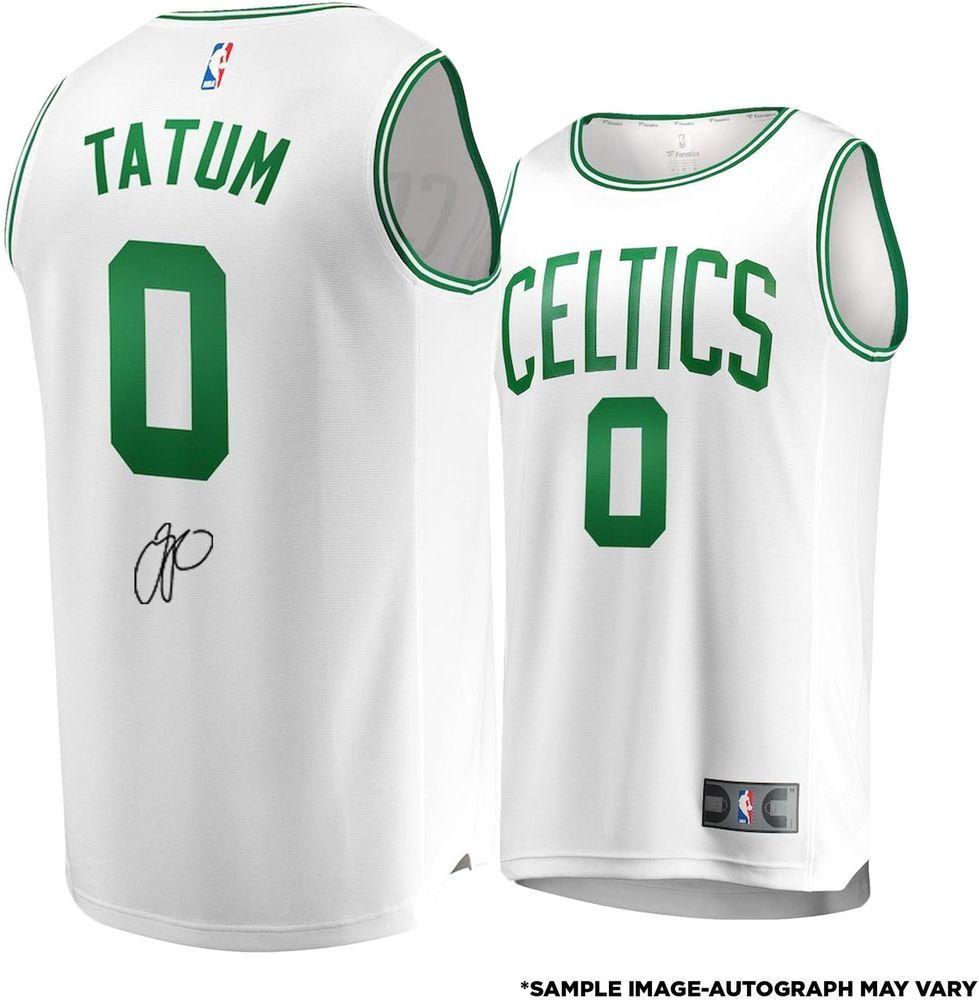 eef3de7f437f Jayson Tatum Boston Celtics Autographed Fanatics White Fastbreak Jersey   Basketball