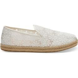 Photo of Toms Shoes White Flowers Deconstructed Alpargatas Espadrilles For Women – Size 36.5 TomsToms