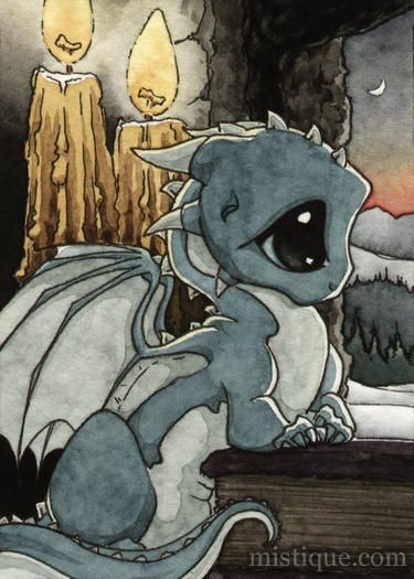 """One of three hatchling dragons I drew while I was helping my sister move to Frederick, Maryland (the hatchlings are Fred, Rick and Mary). I callz tem Urban Draggins. 9"""" x 12"""", colored pencil, 2006."""